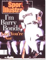 Sports Illustrated Barry Bonds cover with unflattering title