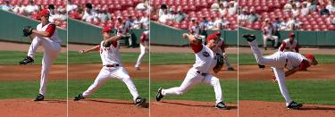 pitching sequence - 4 images